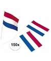150x plastic zwaaivlaggetje holland