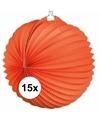 15x lampionnen oranje 22 cm