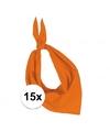 15x zakdoek bandana oranje