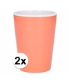 2 kinderbekers melamine oranje 600 ml