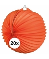 20x lampionnen oranje 22 cm