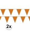 2x oranje vlaggenlijn slinger 10 meter