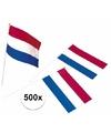 500x plastic zwaaivlaggetje holland