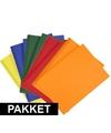 5x a4 hobby karton geel donkergroen blauw oranje rood