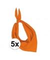 5x zakdoek bandana oranje