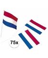 75x plastic zwaaivlaggetje holland