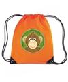 Apen rugtas gymtas oranje voor kinderen