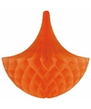 Hangdecoratie kroonluchters oranje 35 cm