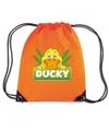 Ducky de eend rugtas gymtas oranje voor kinderen
