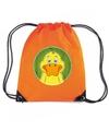 Eenden rugtas gymtas oranje voor kinderen