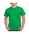 Voordelig fel groen T-shirt voor volwassenen