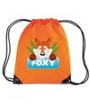 Foxy de vos rugtas gymtas oranje voor kinderen