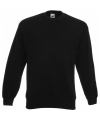 Kleding Fruit of the Loom sweater zwart