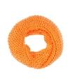 Gebreide col sjaal neon oranje voor volwassenen
