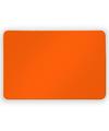 Grote oranje koelkast magneet 6 x 4 cm