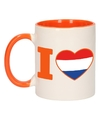 I love holland mok beker oranje wit 300 ml