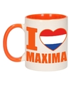 I love maxima mok beker oranje wit 300 ml