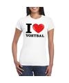 I love voetbal t shirt wit dames