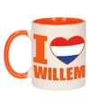 I love willem mok beker oranje wit 300 ml