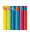 Inpakpapier dubbelzijdig lichtblauw oranje 200 x 70 cm