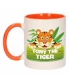 Kinder tijger mok beker tony the tiger oranje wit 300 ml