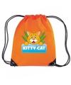 Kitty cat katten rugtas gymtas oranje voor kinderen