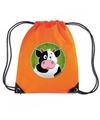 Koeien rugtas gymtas oranje voor kinderen