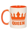 Koningsdag queen mok beker oranje wit 300 ml