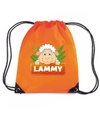 Lammy het schaap rugtas gymtas oranje voor kinderen