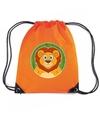 Leeuwen rugtas gymtas oranje voor kinderen