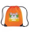 Mighty mike de muis rugtas gymtas oranje voor kinderen