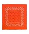 Neon oranje zakdoek bandana 53 x 53 cm