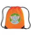 Olifanten rugtas gymtas oranje voor kinderen