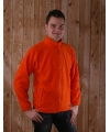Warme oranje fleece trui met rits