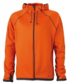 Oranje heren fleece vesten