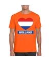 Oranje holland hart vlag shirt heren