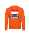 Oranje holland hart vlag sweater volwassenen