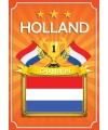 Deurposter Holland oranje