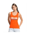Oranje holland supporter tanktop dames