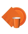 Oranje holland thema tafeldecoratie set 8 bordjes 8 bekertjes 20
