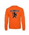 Oranje holland zwarte leeuw sweater volwassenen