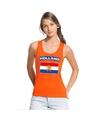 Oranje hollandse vlag tanktop dames