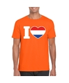 Oranje i love holland shirt heren