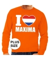 Oranje i love maxima sweater volwassenen