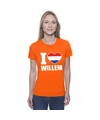 Oranje i love willem shirt dames