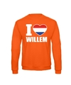 Oranje i love willem sweater volwassenen