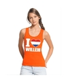 Oranje i love willem tanktop dames
