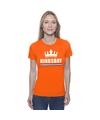 Oranje kingsday met een kroon shirt dames