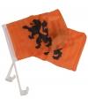 Oranje KNVB autovlag 2 stuks
