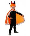 Oranje Konings mantel voor kinderen